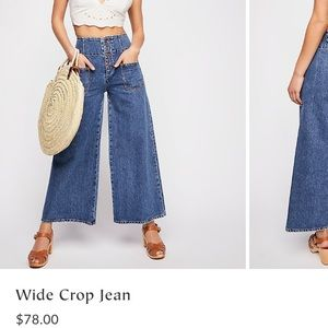 Free People Wide Crop Jean